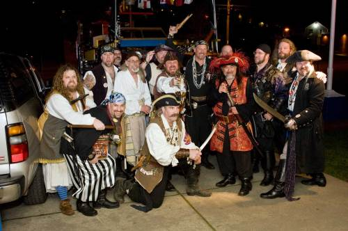 Seafair pirates prepare to sing
