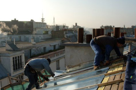 Arsene, roof repairs