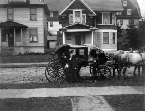 A rare photo of a carriage, taken from Major Millis' front porch