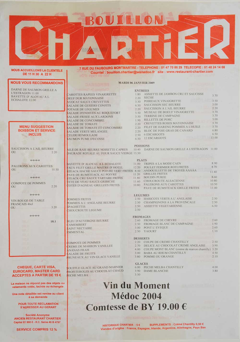 Cheap Restaurants In Paris France With Menus And Prices