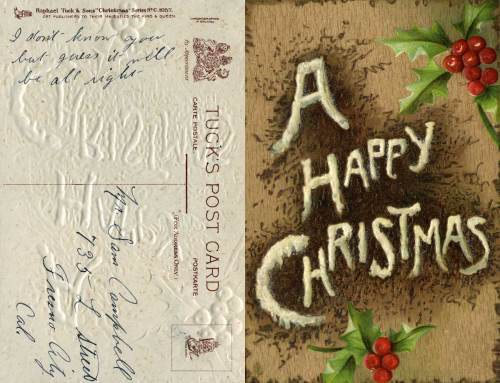"A textured & embossed card from Tuck's Post Card, again, (""art publishers to their magesty the King and Queen""), it has been ""chromographed in Bavaria"""