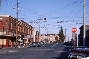 Looking east on Boston from its intersection with Queen Anne Ave. on March 8, 1981.
