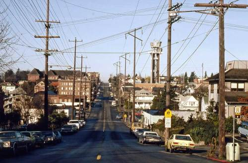 Galer Street looking west from Queen Anne Ave., March 8,1981.