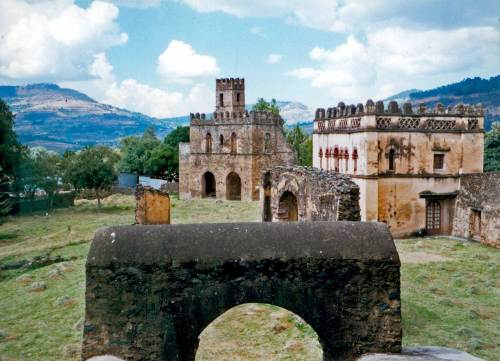 Gondar's earliest castles date from the 15th C., and were designed and built by Portuguese architects for the emperors of Gondar (see one of them mummified below)