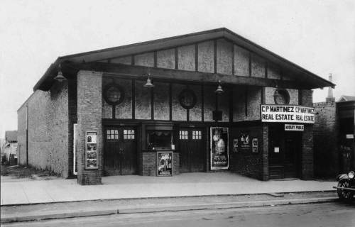 THEN: Long thought to be an early footprint for West Seattle's Admiral Theatre, this charming brick corner was actually far away on another Seattle Hill. Courtesy, Southwest Seattle Historical Society.