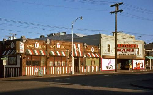 "Tony's and the Uptown on ""lower"" Queen Anne Avenue July 11, 1974."
