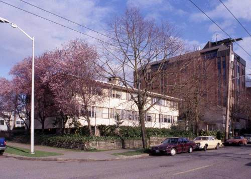 The Cathedral Convent build on the former site of the Frye Mansion.  Photo was taken in March, 2001.