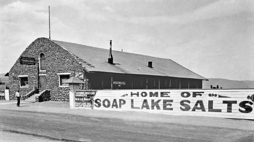 An earlier view of Thornson's where Kathy Keifer ended her bike flight to Soap Lake in 1980.