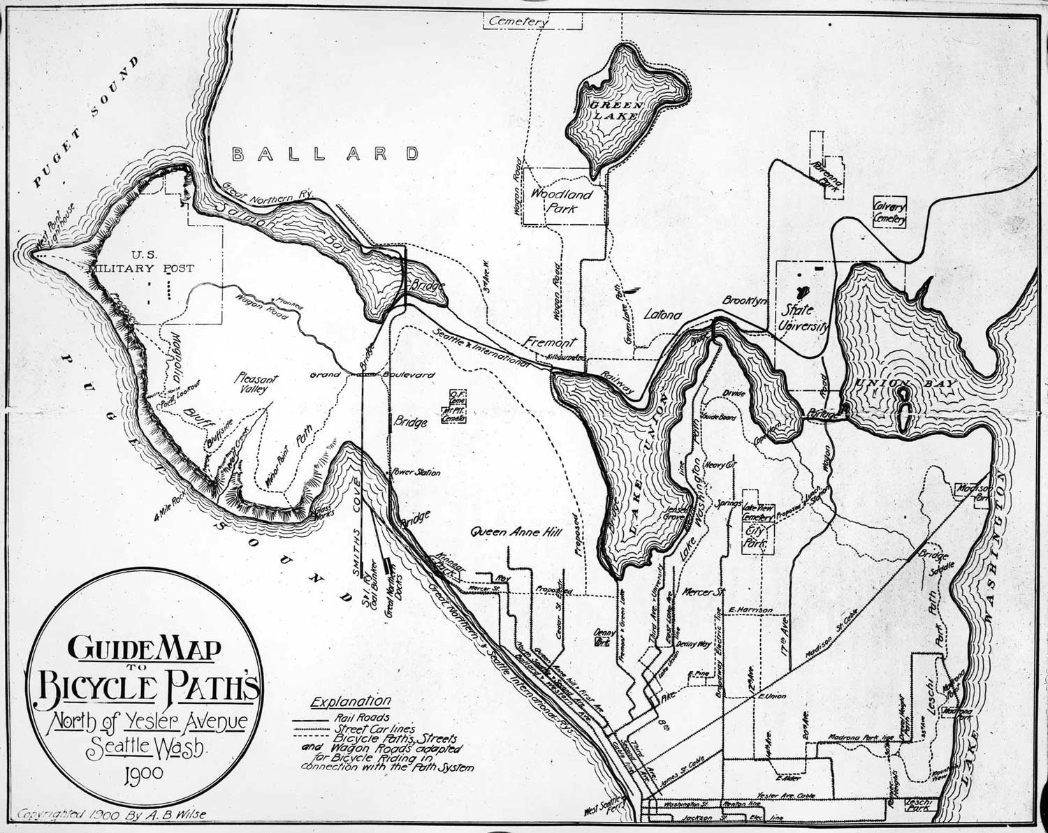 Seattle bike paths - 1900