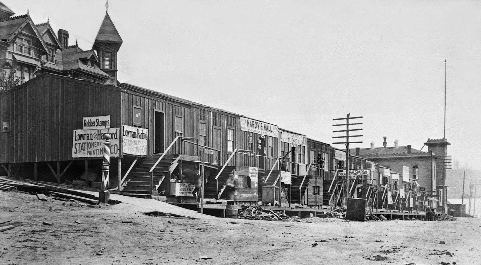 Seattle Now & Then: Yesler's Sheds   DorpatSherrardLomont