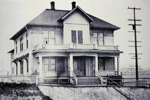 The Society's first home in what is now the Seattle Center, near the southwest corner of Harrison St. and 4th Ave. West.