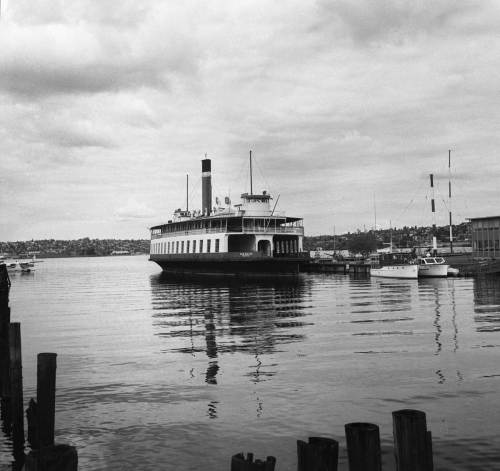 Not to be  mistaken with the San Mateo, the ferry that arrived to this little waterway at the southwest corner of Lake Union later and also left too soon for Canada and a slow collapse in its Fraser River slip.