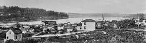 An early panorama of the lake most likely from the mid-late 1880s.  Western Mill is there but not yet the Westlake viaduct.  This was taken from near Boren and John.