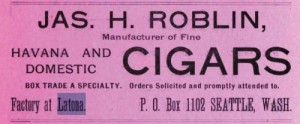 An advertisement from the 1890 Polk City Directory, page. 35