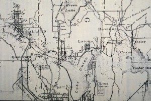 "The nearly new Latona Bridge and much else can be found on this ""Real Roads Map"" from 1894."