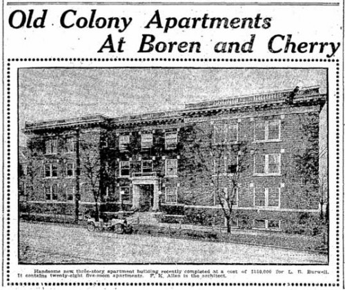 Seattle Now & Then: The Old Colony Apartments