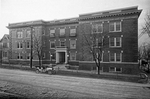 THEN: First Hill's distinguished Old Colony Apartments at 615 Boren Avenue, 1910.