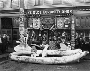 Standley's Ye Olde Curiosity Shop when it was lodged at Colman Dock.