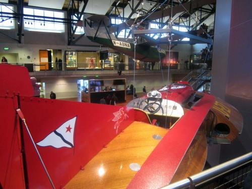 Not a model - the real Slo-mo at MOHAI with the original Boeing Mail plane beyond hanging from the ceiling.