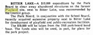 A May 16, 1961 clip describing the state - abandoned - and foretelling the fate - cleared away - of Playland.