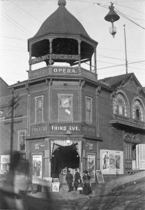 Another of the Third Ave. Theatre at it original home on the northeast corner of 3rd Ave. and Madison Street.