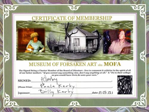 Paula Kerby's neglected membership card