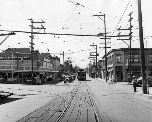 Looking west on 85th thru its intersection with Greenwood in 1939, and so near the end of its rails.