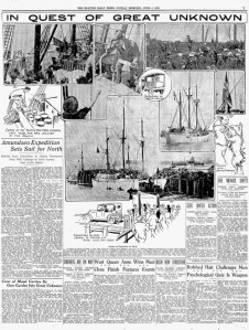The June 4, 1922 Seattle Times report - including the featured photograph - on the MAUD's send-off.