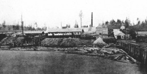 The Muthama Barrel factory as seen from its pier off the foot of Broad Street.