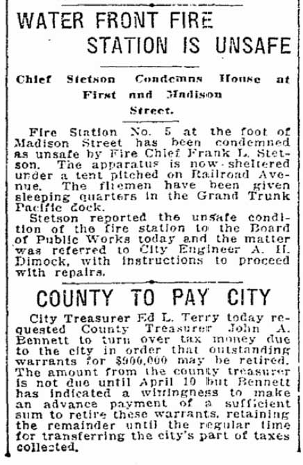 A Seattle Times clip from March 17, 1916.