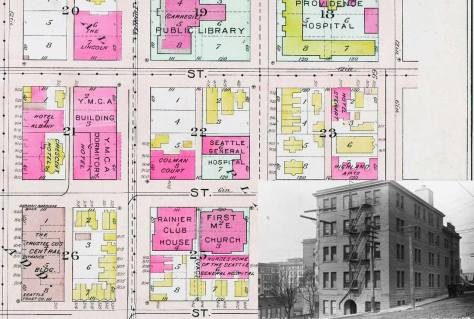 The feature cornering its closest neighbors in the 1912 Baist real estate map.