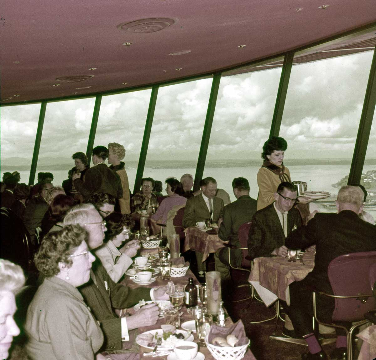 Z Space Needle dining a pana vue slideWEBSpace Needle   DorpatSherrardLomont. Dinner Seattle Space Needle. Home Design Ideas