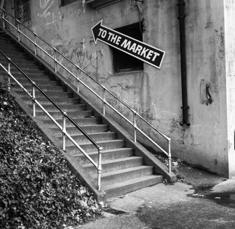 Stairs to the Market no longer stepped on.