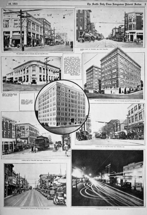 On Oct. 18, 1925 The Seattle Times reached University Way with its series on Seattle's neighborhood.