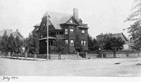 Copied from the family album, the Lowman Mansion at the southeast corner of Boren Avenue and Marion Street in 1894. (Courtesy, Michael Maslan)