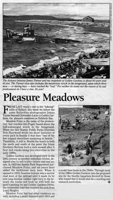 """Pleasure Meadows"" as it appeared in The Times."
