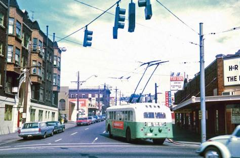 With the Ankona on the left and still looking north on one-way First Ave. North with traffic heading north in 1971,