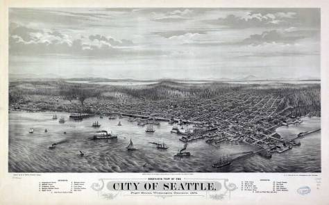 Seattle's sharp 1878 Birdseye