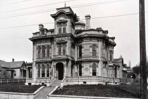 The Stacy Mansion at the northeast corner of 3rd Ave. and Marion Street, circa 1890.