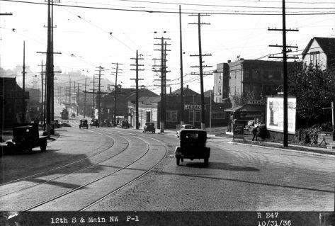 Twelfth Avenue looking south towards Main Street,