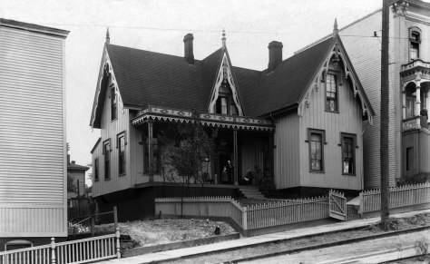 THEN: When it was built in 1864 Charles and Mary Terry's home was considered the finest in Seattle.  (Courtesy Museum of History and Industry)
