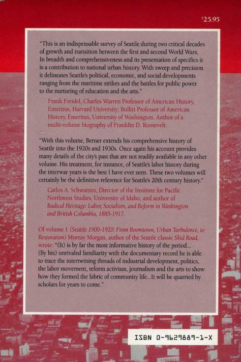 The back cover with notable blurbs worth reading.