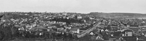 Seen from Denny Hill, Seattle in 1885, the year of Lucy Campbell's birth.