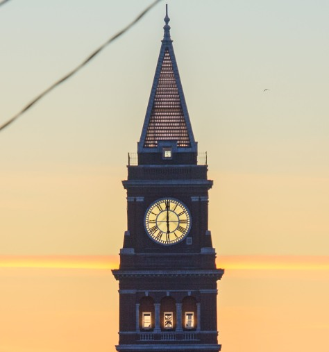 Clock tower close-up