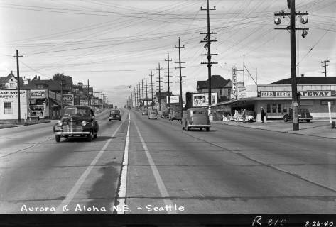 North towards Valley and Aloha, on August 26, 1940