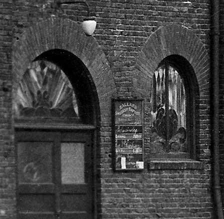 The side door to Ballard Swedish Baptist on 20th Ave. NW.