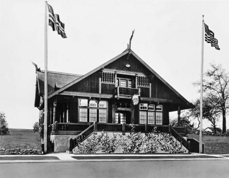 THEN: The now century-old Norway Hall at the corner of Boren Avenue and Virginia Street opened in 1915, on May 17, Norwegian Independence Day.  (Courtesy, Nordic Heritage Museum)