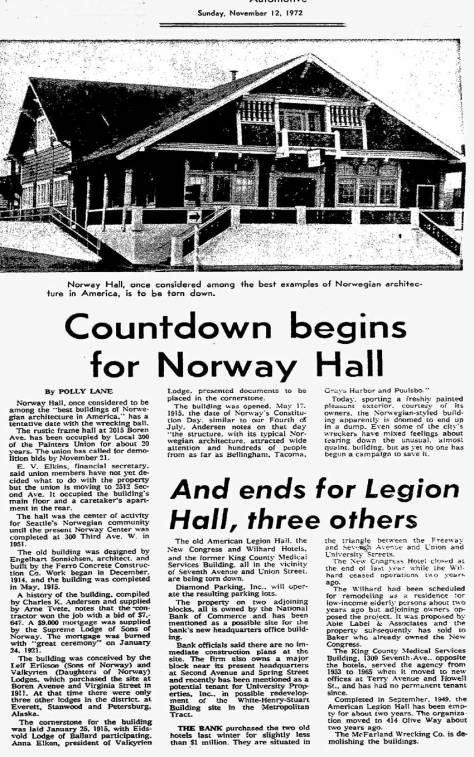 A TIMES clipping from Nov. 12, 1972 most likely helped save the Hall.