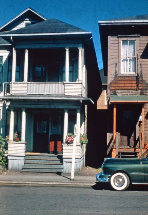 Finally, for now, Whitewalls somewhere in the Cascade Neighborhood, ca. 1950.  (Courtesy, University of Washington Architectural Library)