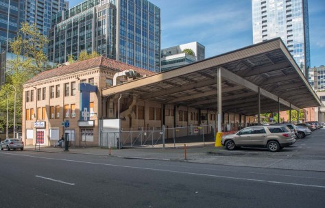 Farewell to the Stewart Street Grayhound Station - soon to be replaced with canyon walls.
